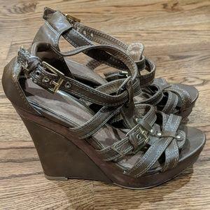Aldo Platform Sandal Wedge Heels